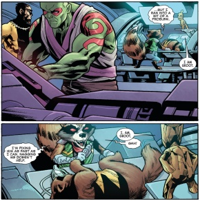 Rocket Raccoon Experimens On Jonathan The Wolverine