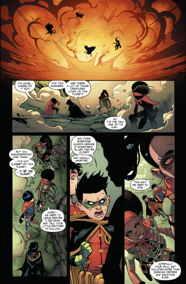 Superboy And Robin Meets Bugshot And Hardline