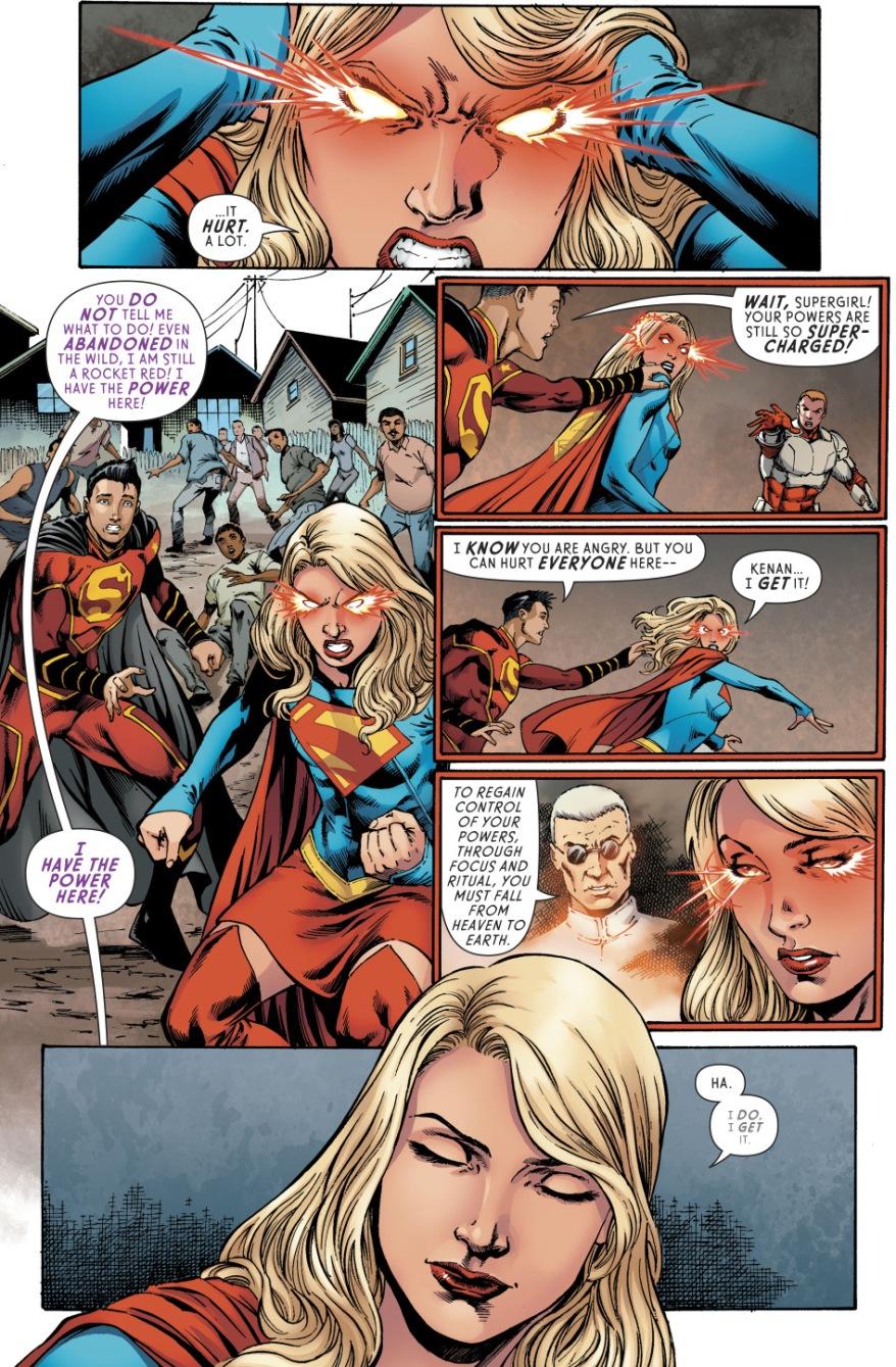 Supergirl VS Rocket Red (Rebirth)