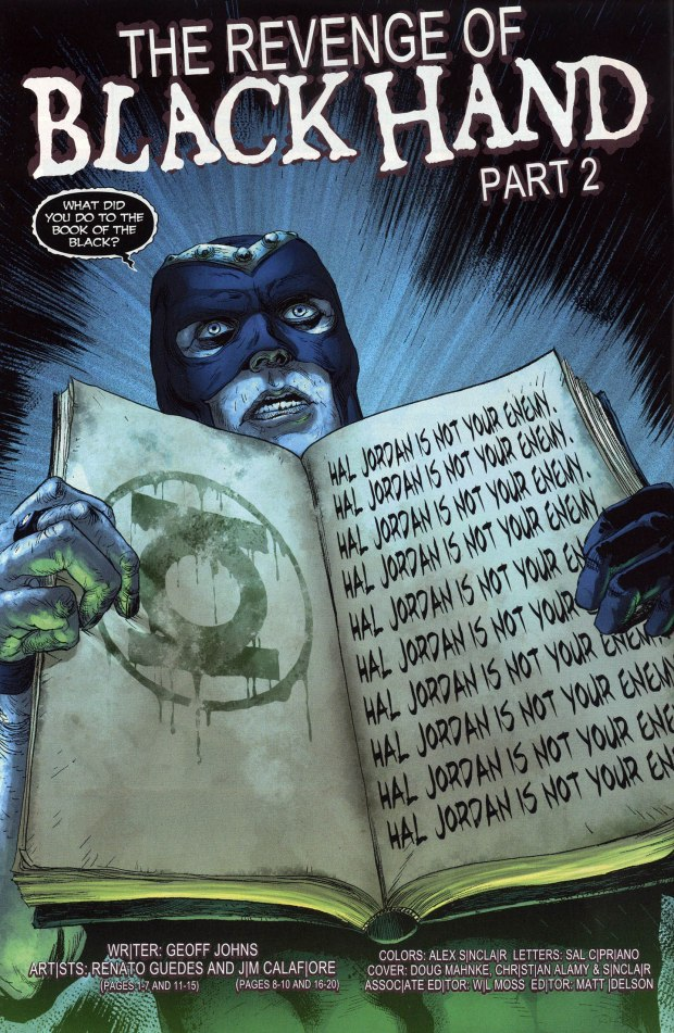 The Book Of The Black's Prophecy On Hal Jordan