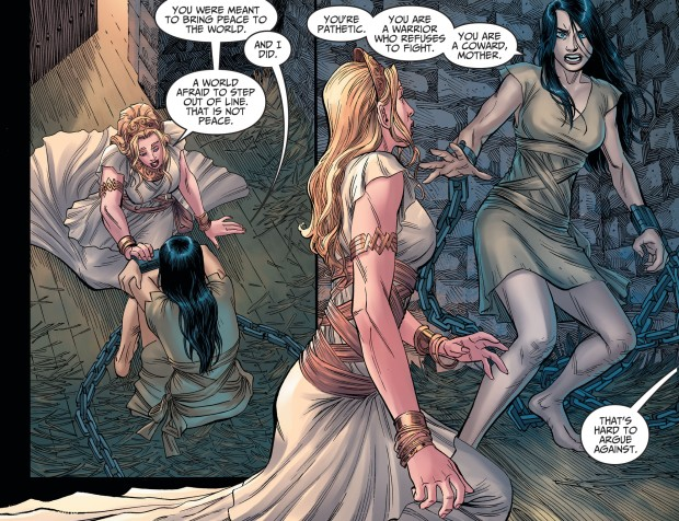Antiope Betrays Queen Hippolyta (Injustice II)