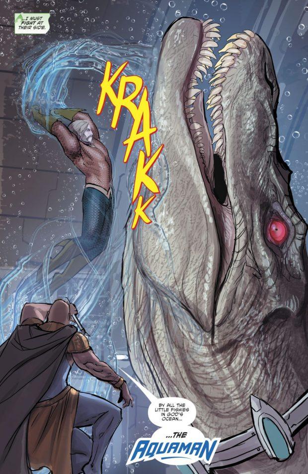 Aquaman VS A Grandsire'saur