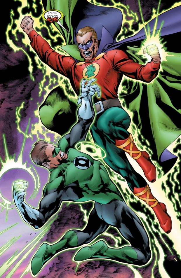 Green Lantern Hal Jordan And Alan Scott VS The Rocket Red Brigade