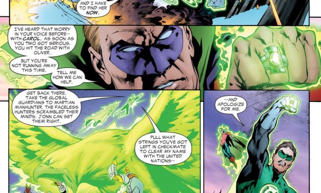 Green Lantern Hal Jordan And Alan Scott VS The Rocket Red Brigade
