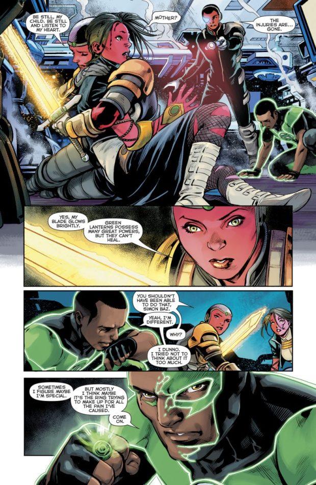 Green Lantern Simon Baz Heals Liseth Vok