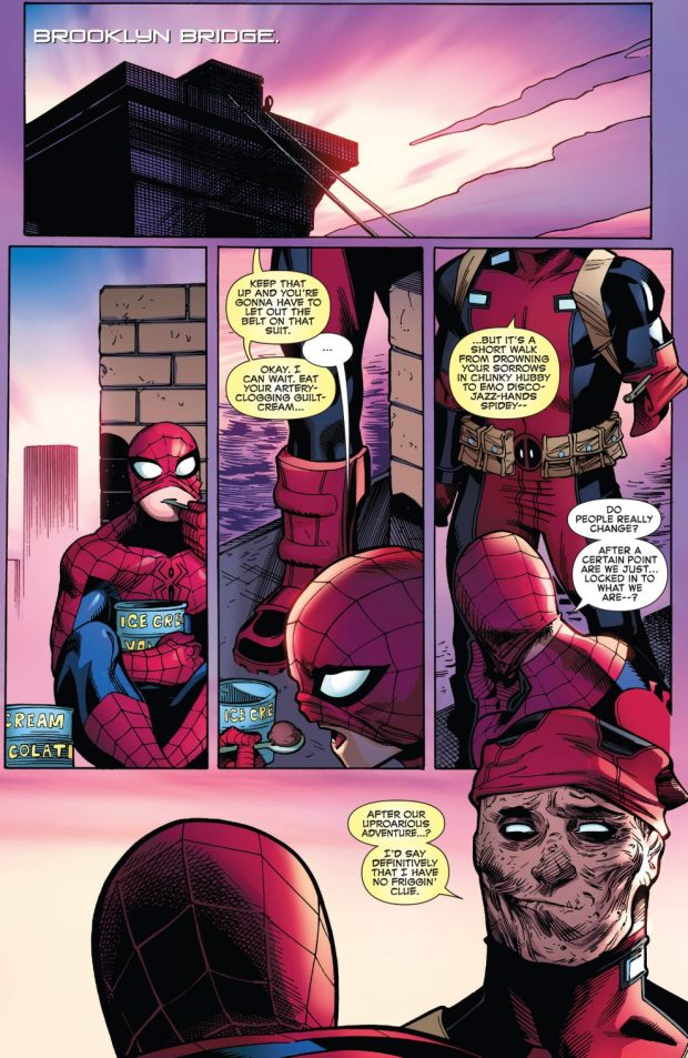 Spider-Man And Deadpool Hugging