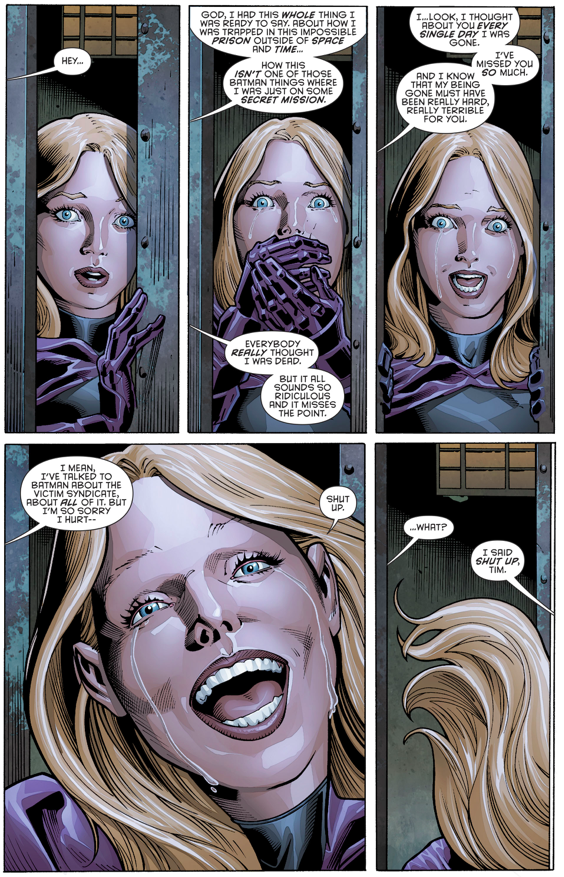 Stephanie Brown Learns Tim Drake Is Alive (Rebirth)
