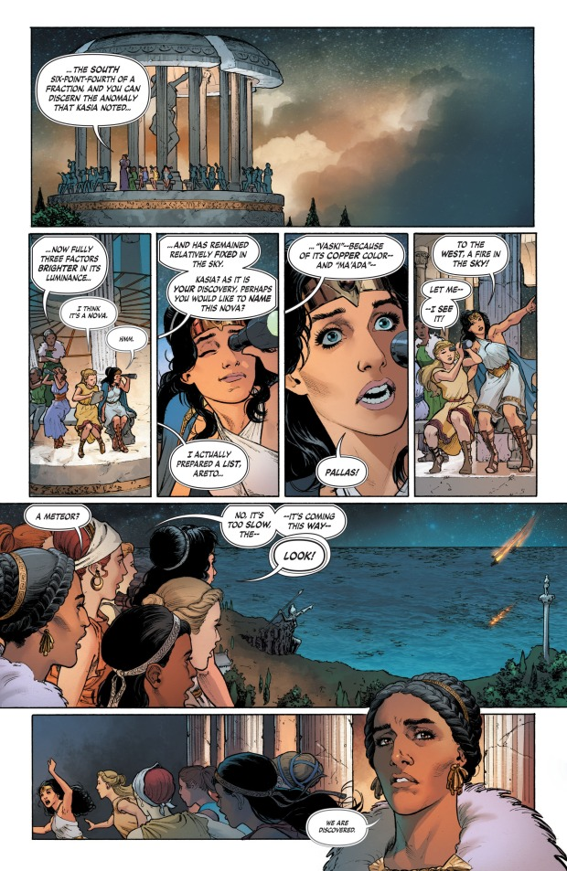 Steve Trevor Lands On Themyscira (Rebirth)