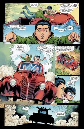 Superboy And Robin Bonds Over Flying
