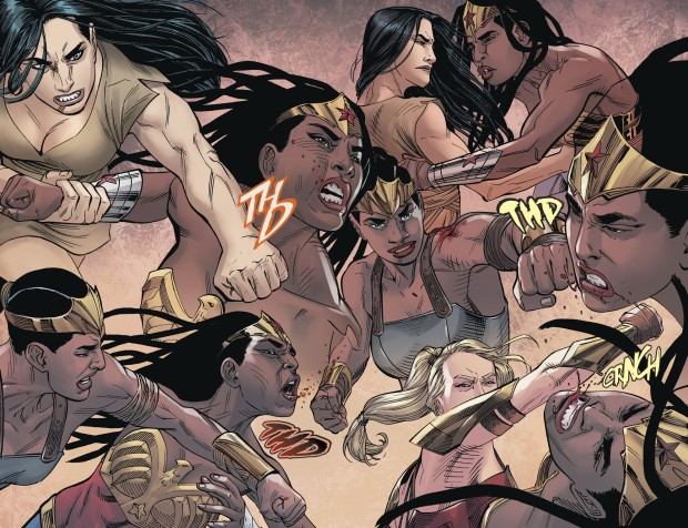Supergirl And Wonder Woman VS Nubia (Injustice II)