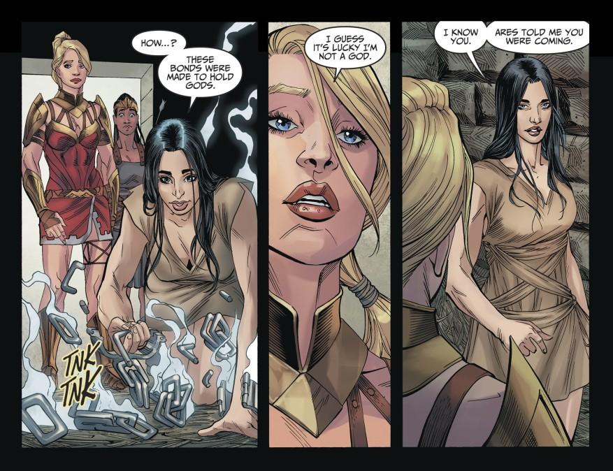 Supergirl Rescues Wonder Woman (Injustice II)