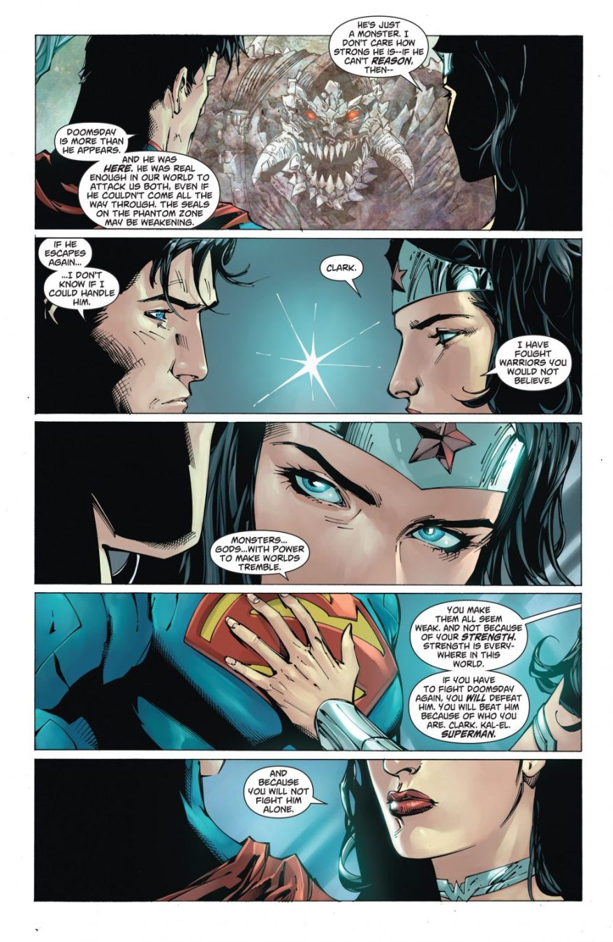 Superman Explains Doomsday To Wonder Woman (New 52)