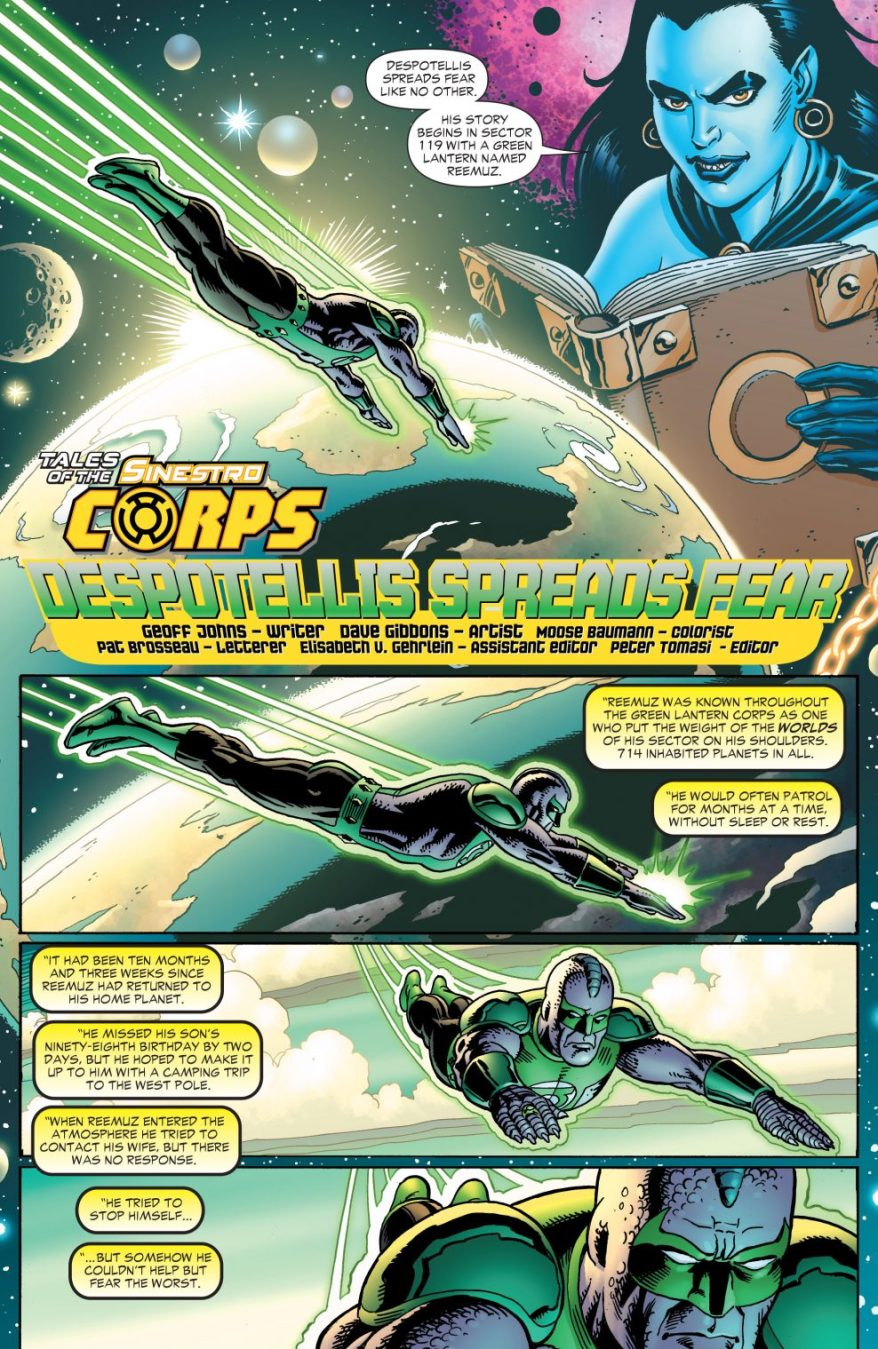 The Tale Of Sinestro Corps Member Despotellis