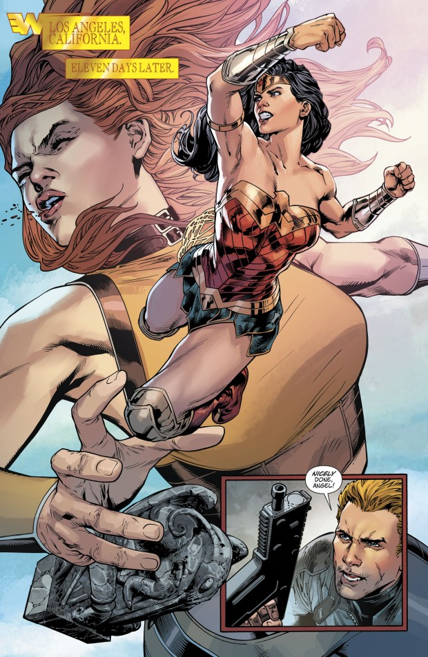 Wonder Woman Knocks Out Giganta (Rebirth)