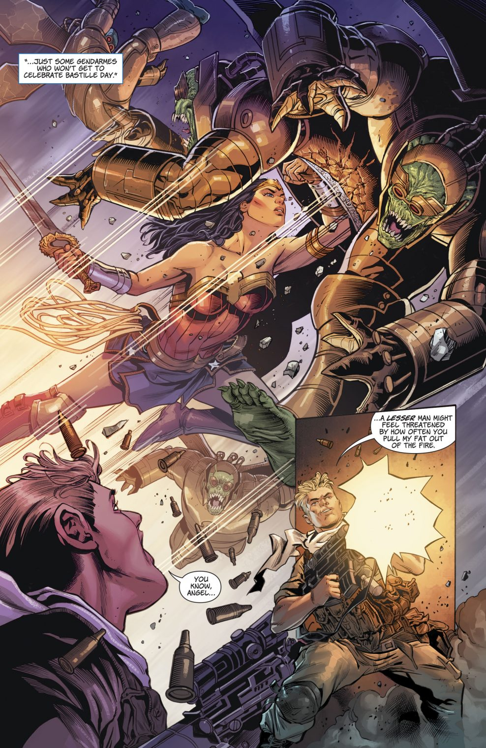 Wonder Woman VS Parademons   Comicnewbies