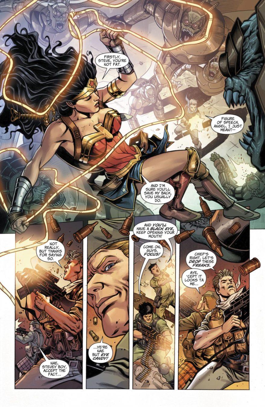 Wonder Woman VS Parademons