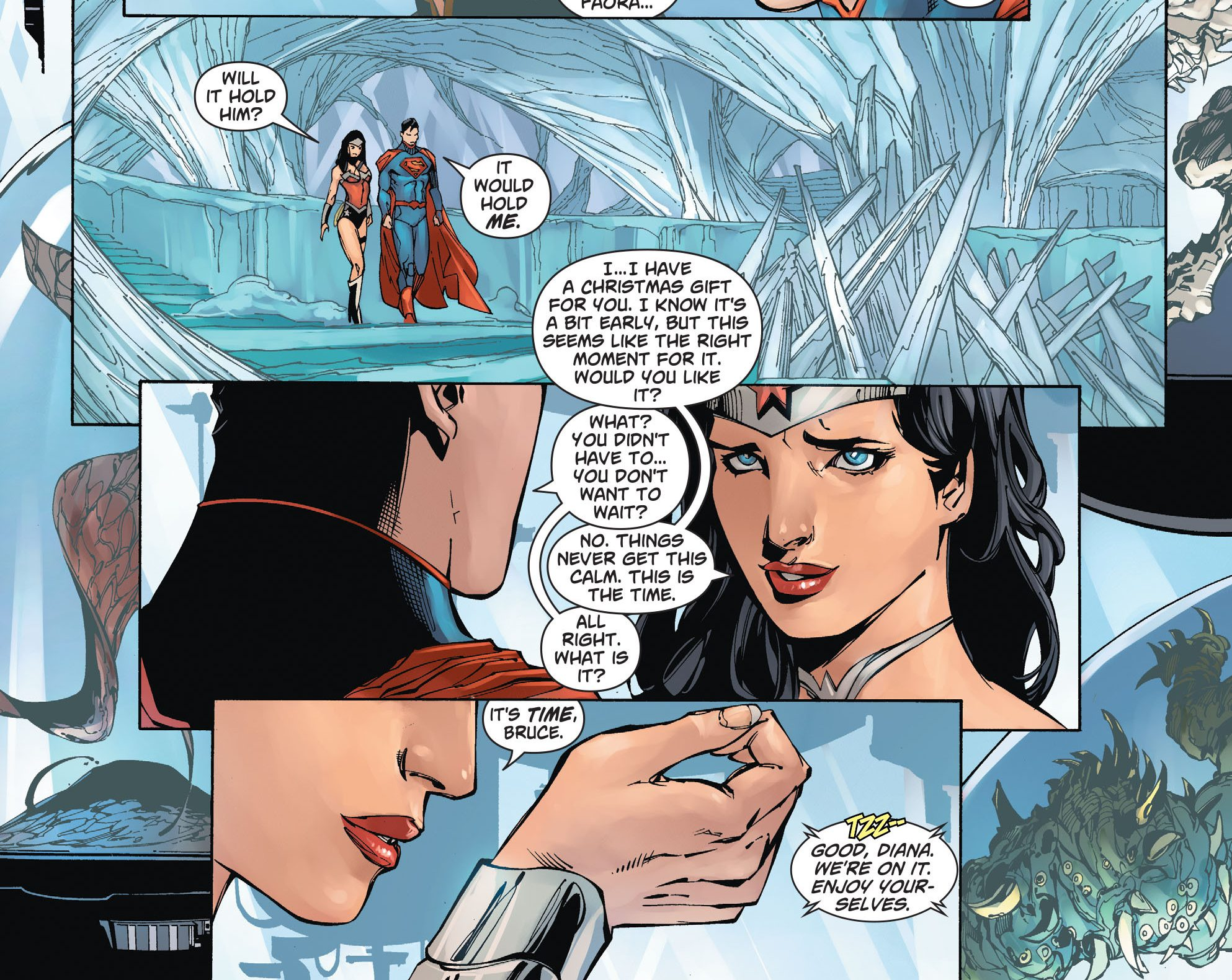 Wonder Womans Christmas Gift To Superman New 52 -1494