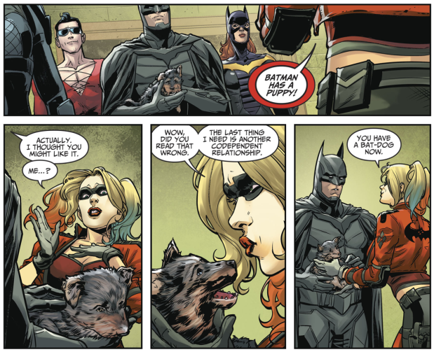 Batman Adopts Bat-Dog (Injustice II)