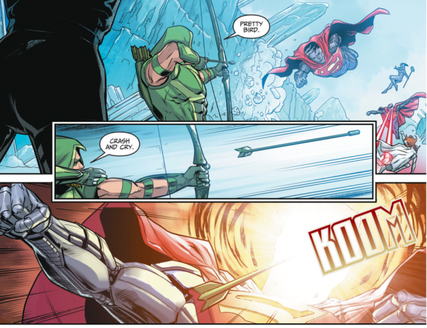Green Arrow And Black Canary VS Eradicator (Injustice II)