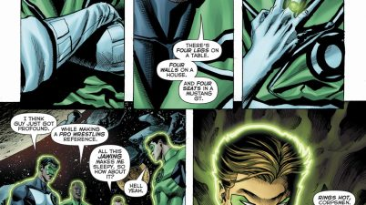 Guy Gardner Makes A Pro Wrestling Reference