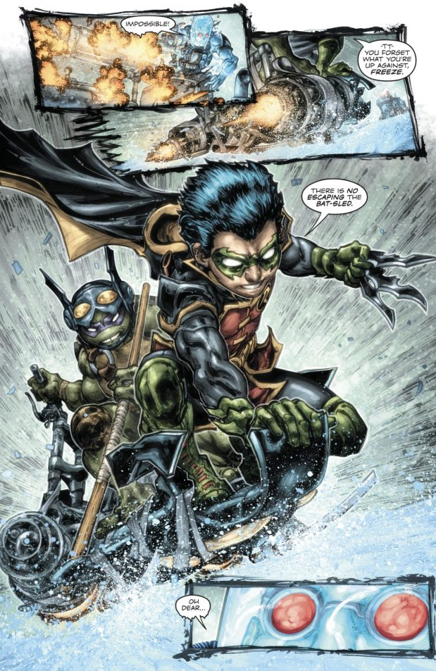 Robin And Donatello VS Mister Freeze