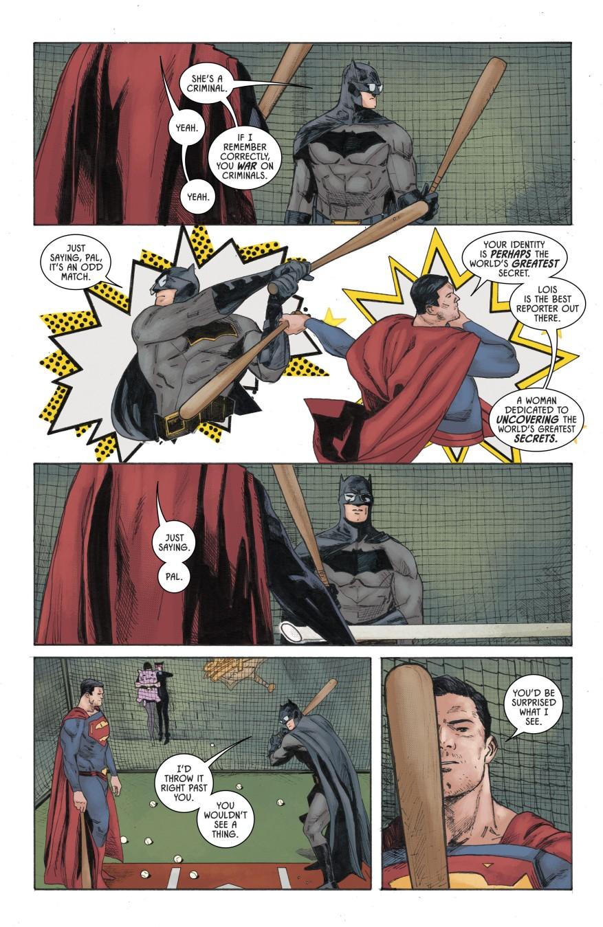 Superman Pitches To Batman