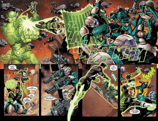 The 4 Corpsmen VS Mercenaries (Green Lantern)