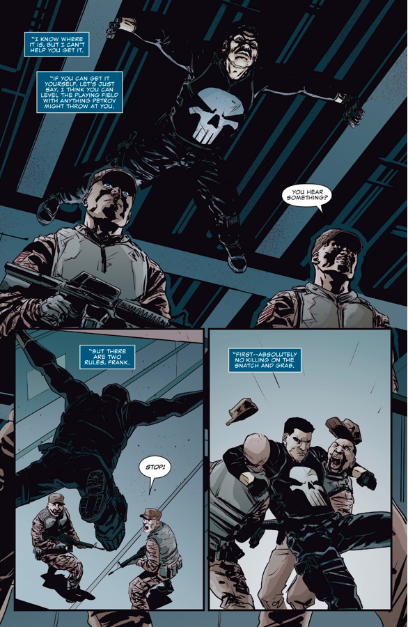 The Punisher Steals The War Machine Armor