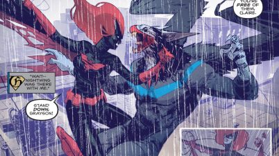 Batwoman VS Monster Men Nightwing