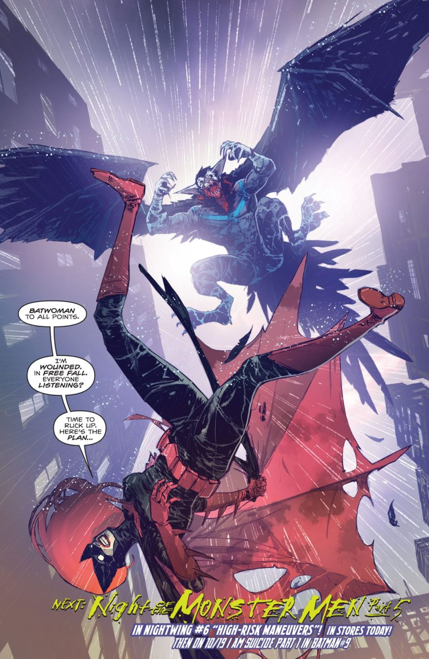 Batwoman VS Monster Men Nightwing