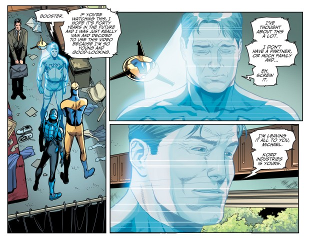 Blue Beetle Leaves His Fortune To Booster Gold (Injustice II)