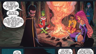 Damian Wayne Bonds With The Teen Titans