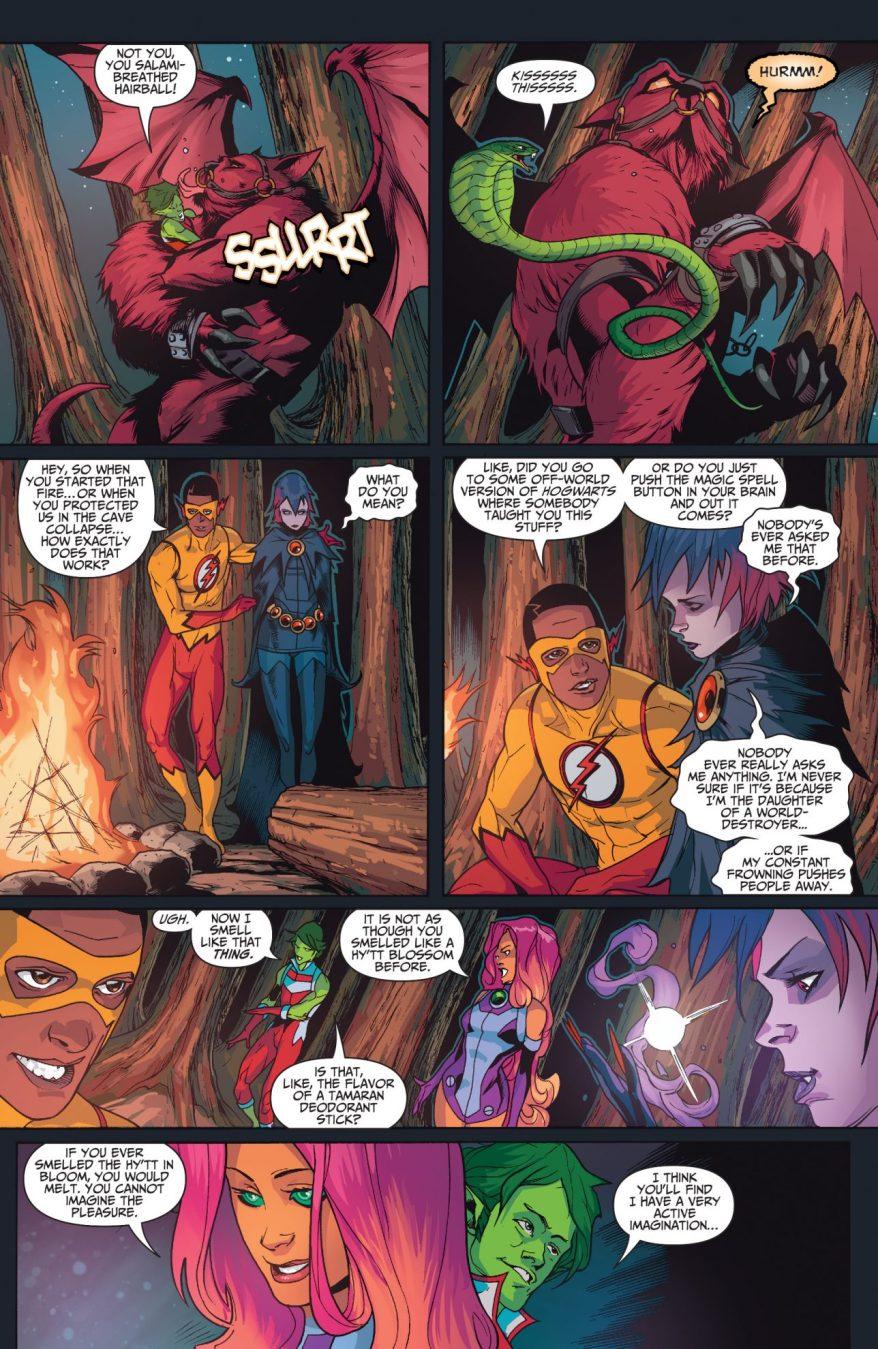 Damian Wayne Bonds With The Teen Titans