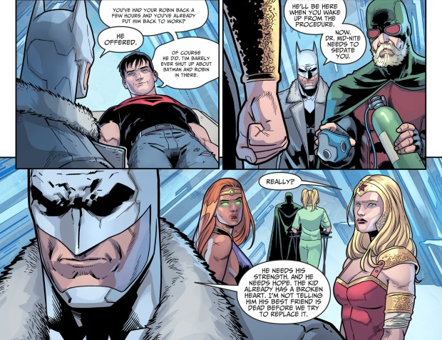 Doctor Mid-Nite Operates On Superboy (Injustice II)