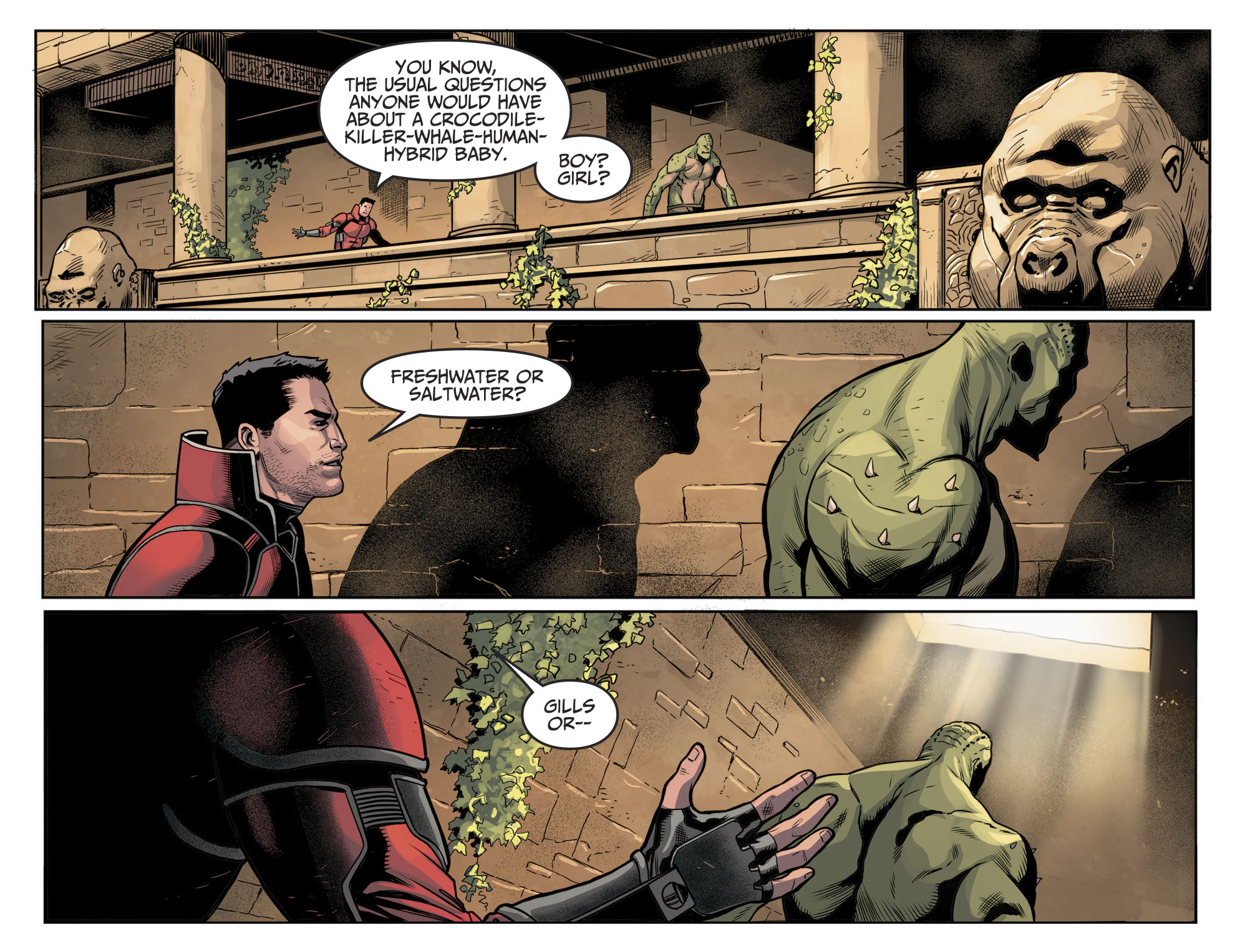 Killer Croc And Orca Are Having A Baby Injustice Ii Comicnewbies