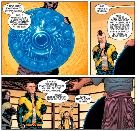 Muramasa Creates A Shield From Wolverine