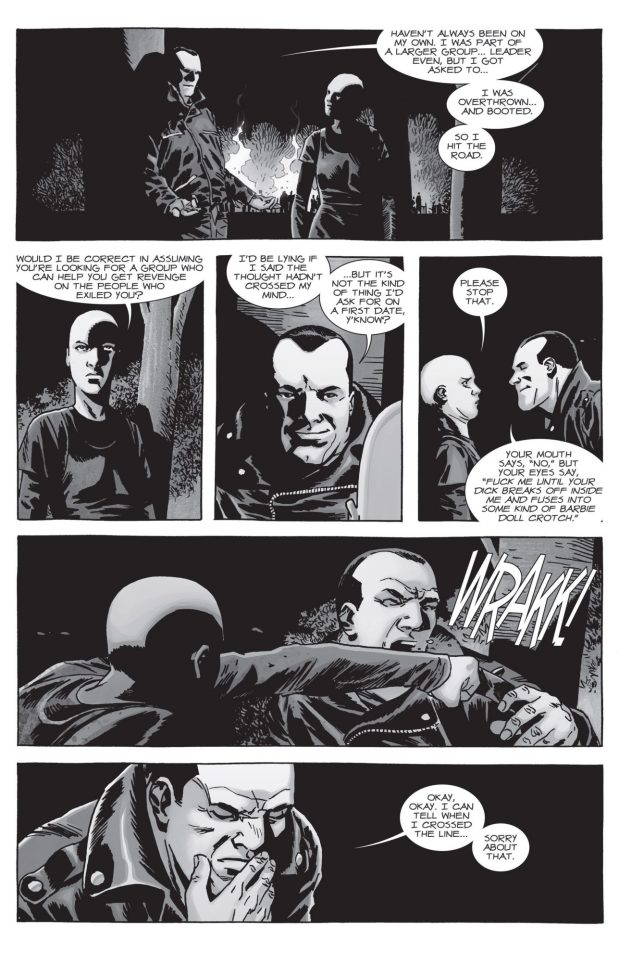 Negan Flirts With Alpha (The Walking Dead)