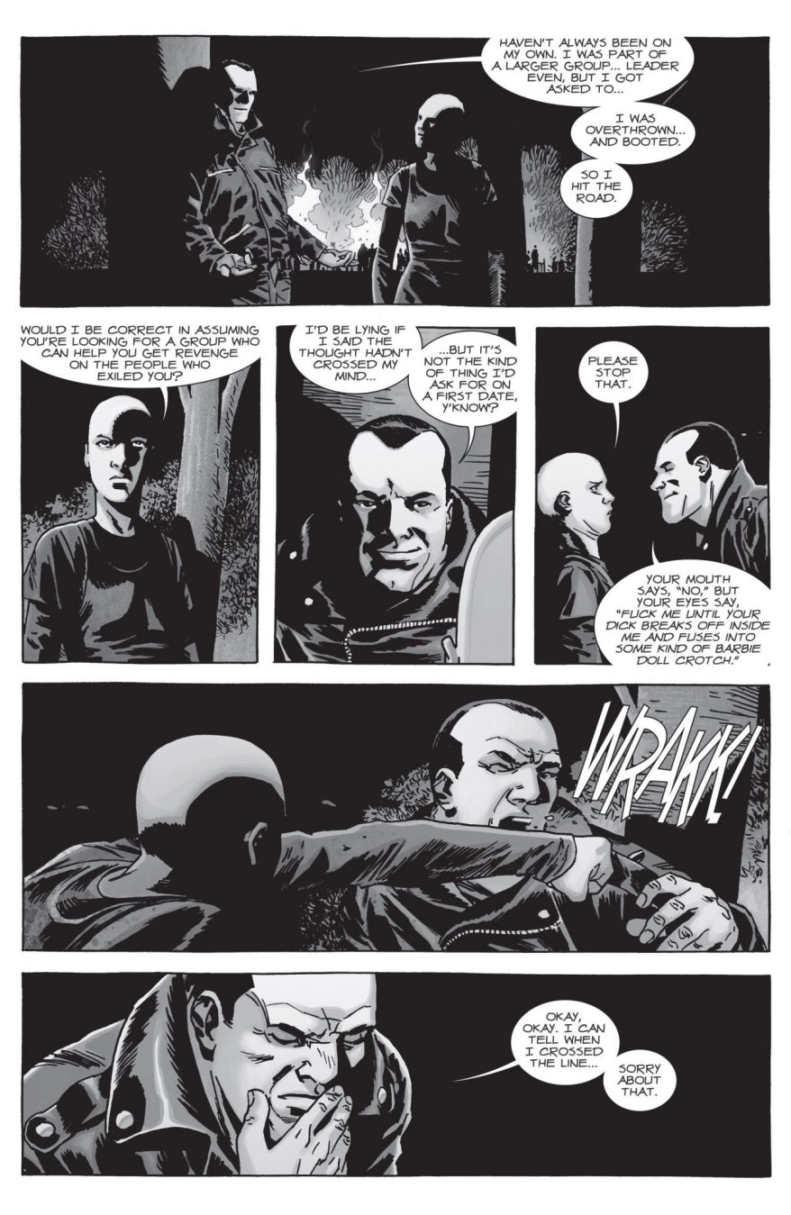 Negan Flirts With Alpha (The Walking Dead)