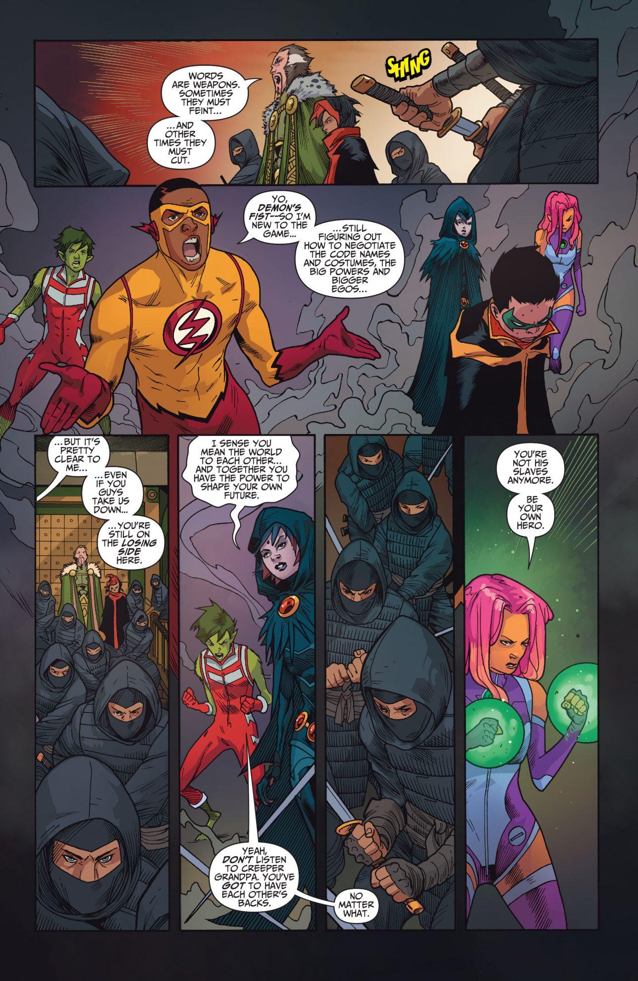 Teen Titans And Demons Fist Vs League Of Assassins -8153