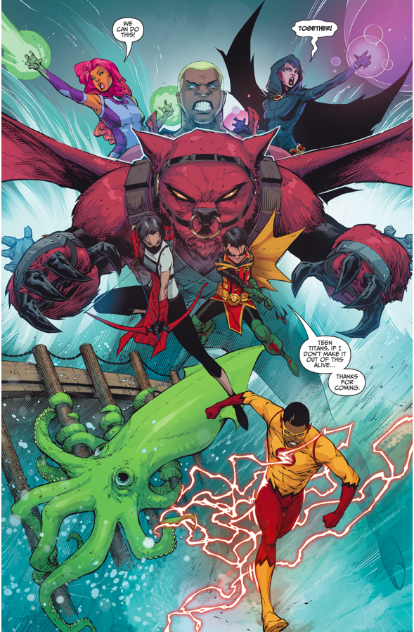 The Teen Titans Stop A Tidal Wave Rebirth  Comicnewbies-9476