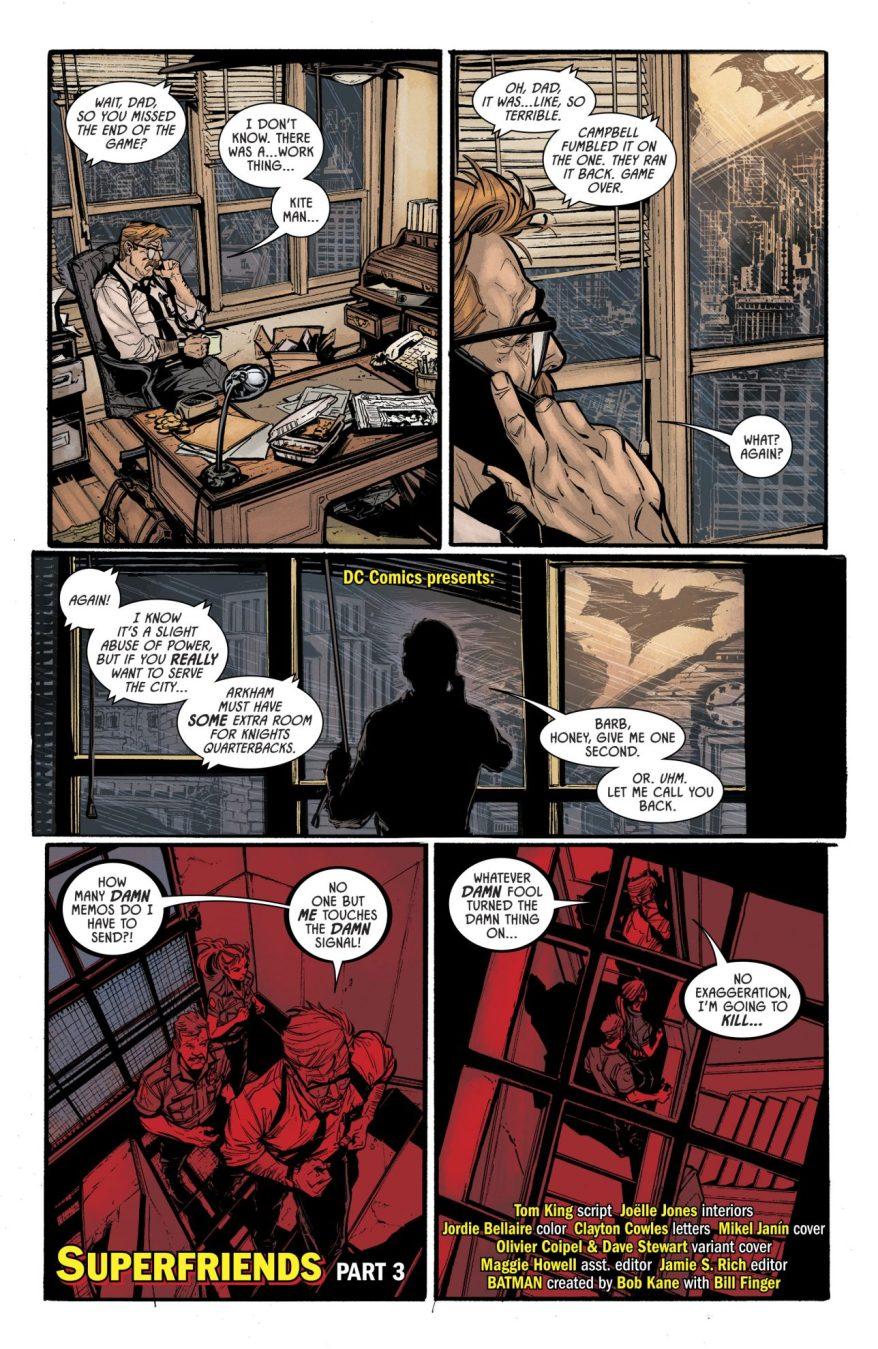 Wonder Woman Turns On The Bat Signal (Rebirth)