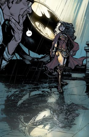 Wonder Woman Turns On The Bat Signal (Rebirth)