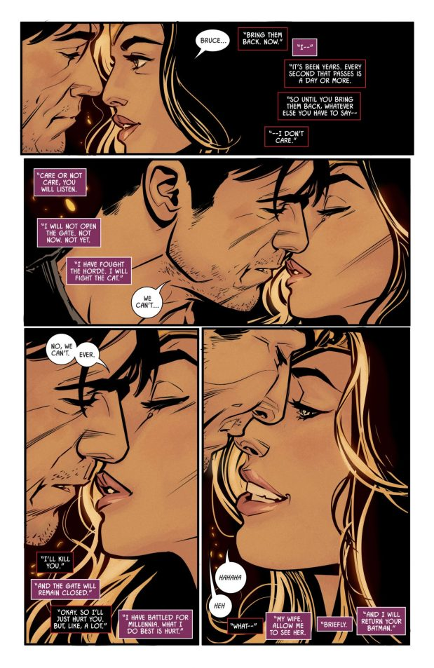 Batman And Wonder Woman Almost Kiss (Rebirth)