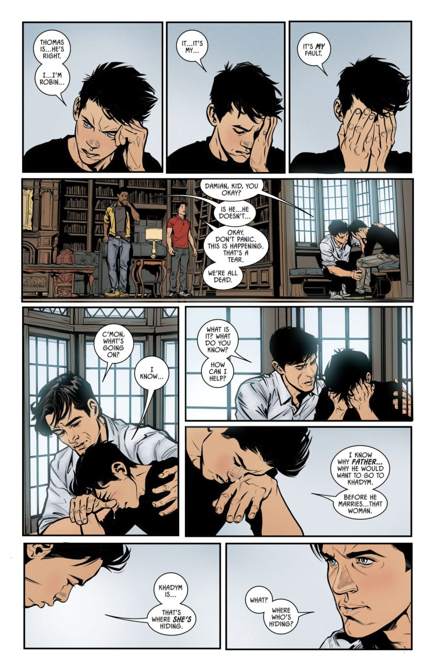 Damian Wayne Crying (Rebirth)