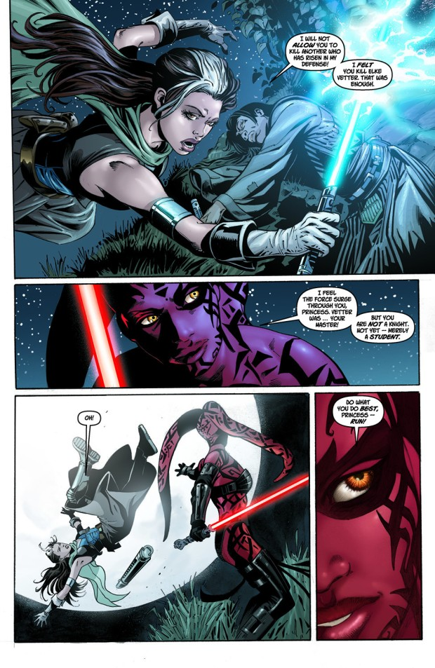 Darth Talon VS Shado Vao And Wolf Sazen