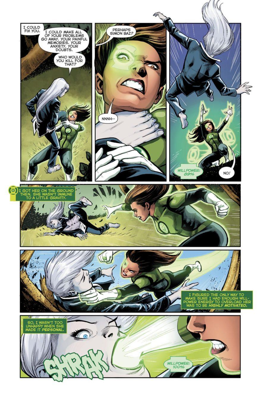 Green Lantern Jessica Cruz VS Singularity Jain