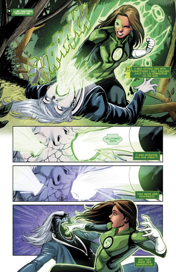 Green Lantern Jessica Cruz VS Singularity Jain