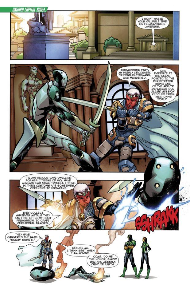 Green Lanterns Simon Baz And Jessica Cruz VS Athene Vok