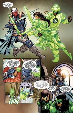 Green Lanterns Simon Baz And Jessica Cruz VS Athene Vok