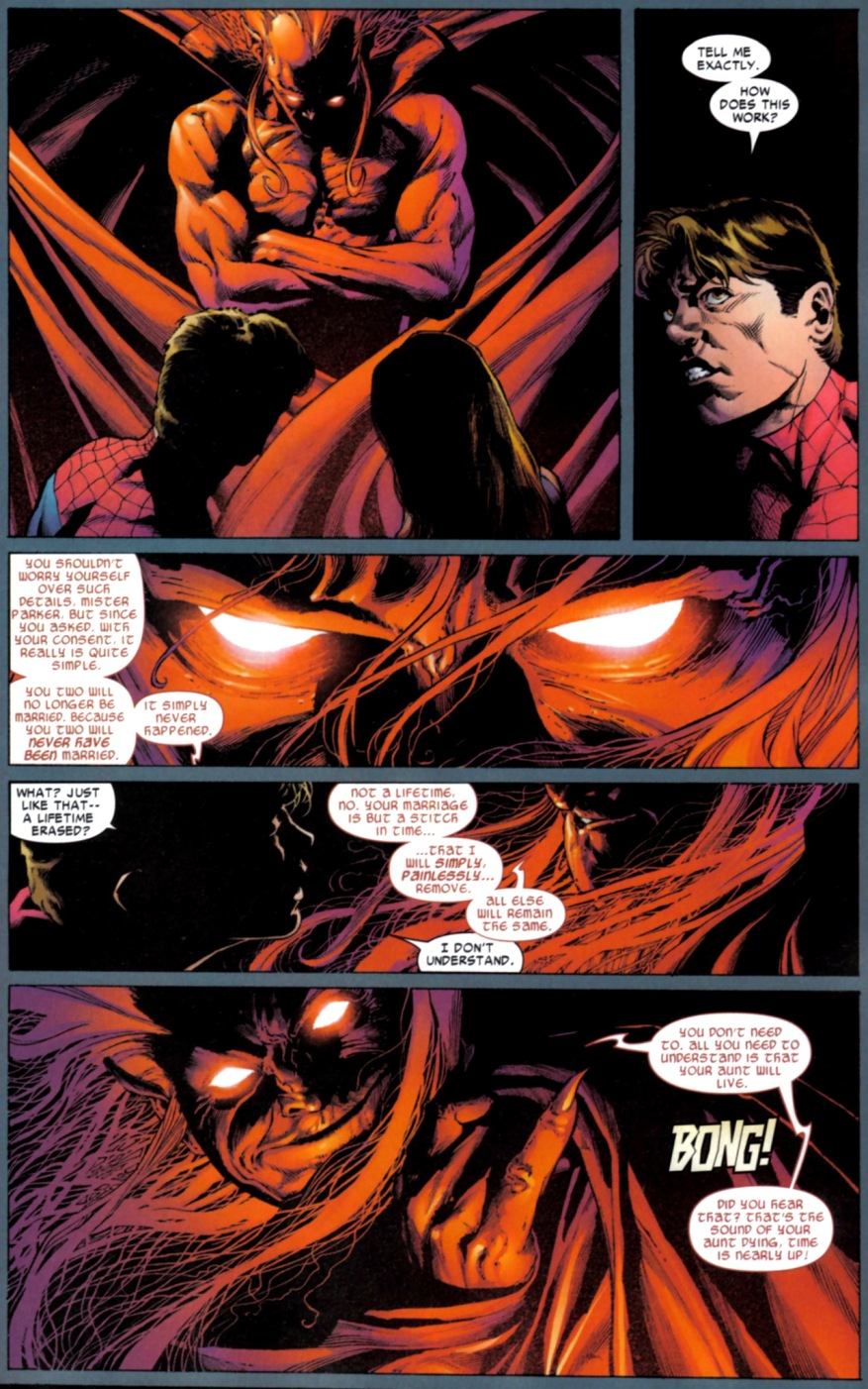 Mephisto Takes Away Spider-Man And Mary Jane's Love